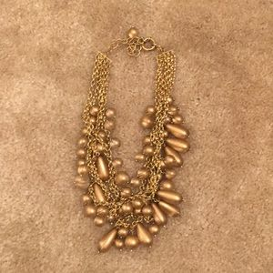 J Crew Multilayer Bronze Necklace